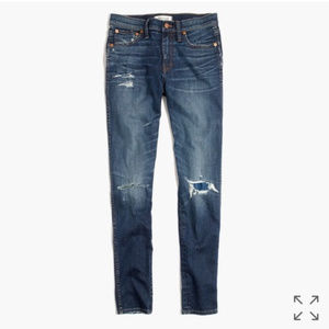 """EUC Madewell 9"""" Ripped & Patched Skinny Jeans 24"""